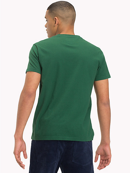 TOMMY JEANS Camiseta de algodón orgánico con logo - HUNTER GREEN - TOMMY JEANS Sustainable Evolution - imagen detallada 1