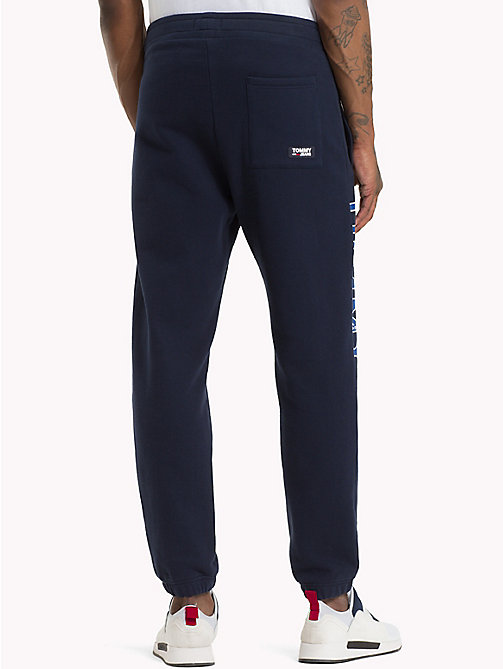 TOMMY JEANS Essential College Joggers - BLACK IRIS - TOMMY JEANS Trousers & Shorts - detail image 1