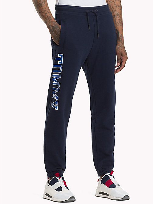 TOMMY JEANS Essential College Joggers - BLACK IRIS - TOMMY JEANS Trousers & Shorts - main image