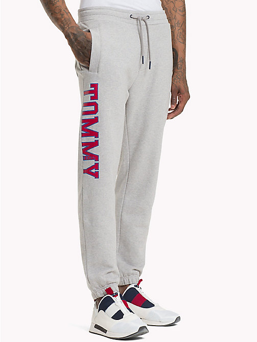 TOMMY JEANS Essential College Joggers - LT GREY HTR - TOMMY JEANS Trousers & Shorts - main image