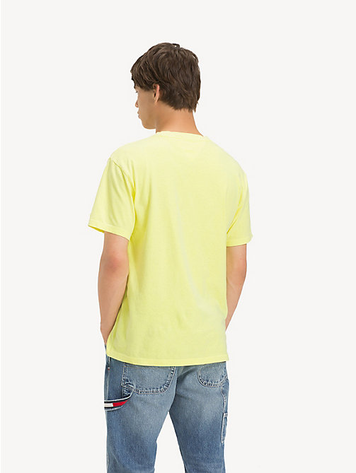 TOMMY JEANS Pure Cotton Logo T-Shirt - SAFETY YELLOW - TOMMY JEANS T-Shirts & Polos - detail image 1