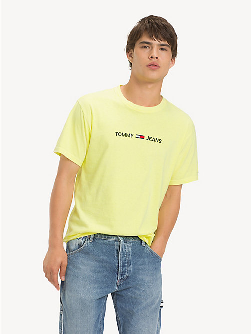 TOMMY JEANS Pure Cotton Logo T-Shirt - SAFETY YELLOW - TOMMY JEANS T-Shirts & Polos - main image