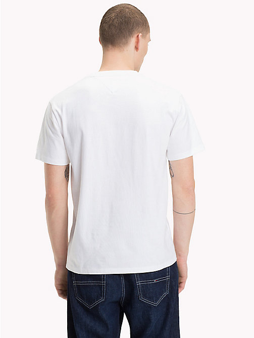 TOMMY JEANS Pure Cotton Logo T-Shirt - CLASSIC WHITE - TOMMY JEANS T-Shirts & Polos - detail image 1