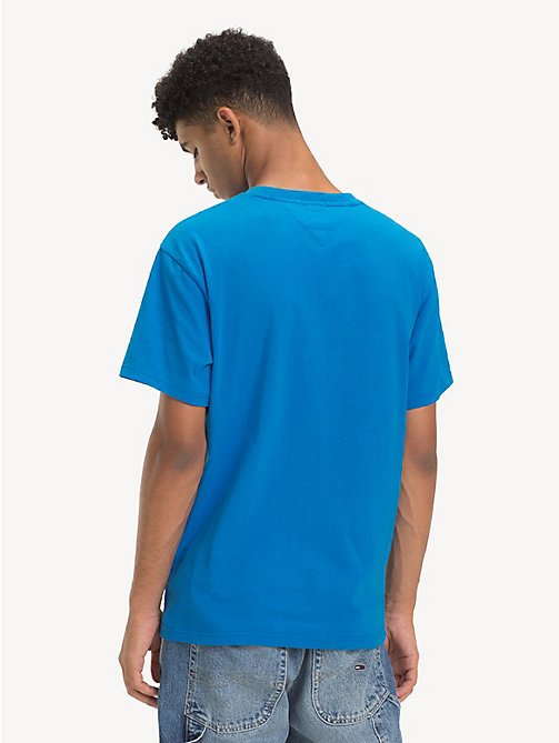 TOMMY JEANS Pure Cotton Logo T-Shirt - BRILLIANT BLUE - TOMMY JEANS T-Shirts & Polos - detail image 1