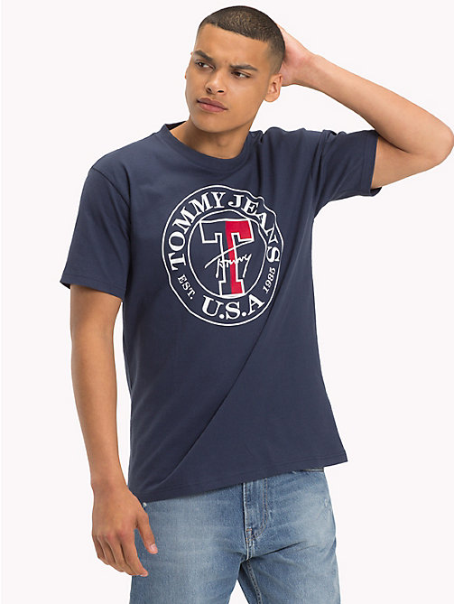 TOMMY JEANS Circle Logo T-Shirt - BLACK IRIS - TOMMY JEANS T-Shirts & Polos - main image