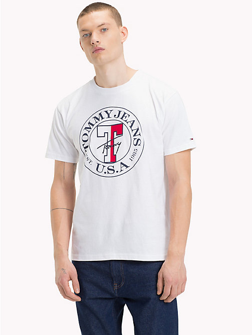 TOMMY JEANS Circle Logo T-Shirt - CLASSIC WHITE - TOMMY JEANS T-Shirts & Polos - main image