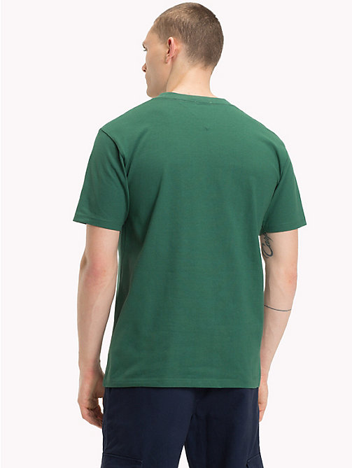 TOMMY JEANS T-shirt met rond logo - HUNTER GREEN - TOMMY JEANS T-Shirts &  Polo's - detail image 1