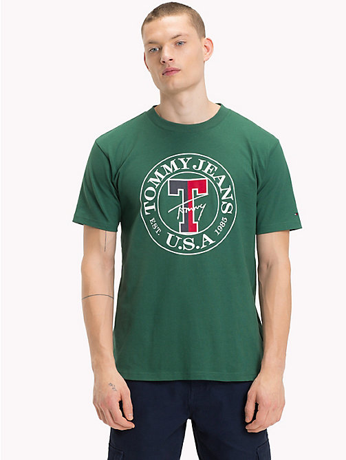 TOMMY JEANS Circle Logo T-Shirt - HUNTER GREEN - TOMMY JEANS T-Shirts & Polos - main image