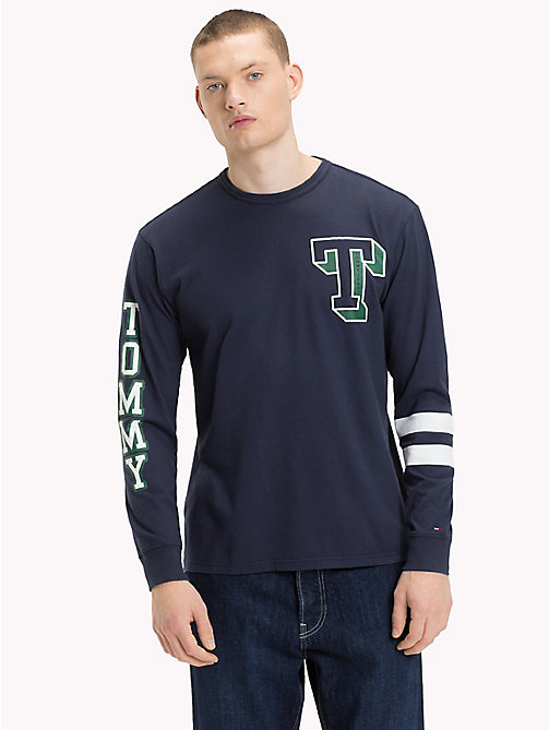 TOMMY JEANS Logo Sleeve Top - BLACK IRIS - TOMMY JEANS T-Shirts & Polos - main image