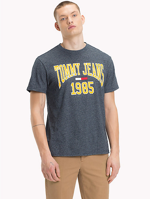 TOMMY JEANS Collegiate Logo T-Shirt - BLACK IRIS - TOMMY JEANS T-Shirts & Polos - main image