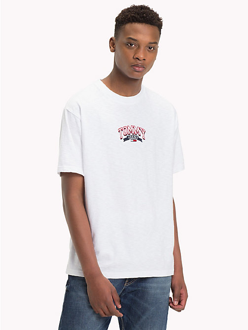 TOMMY JEANS T-Shirt mit Tommy Jeans-Logo - CLASSIC WHITE - TOMMY JEANS T-Shirts & Poloshirts - main image