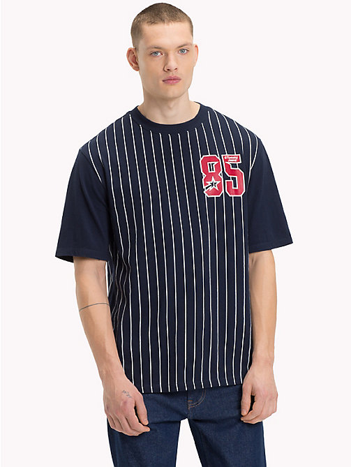TOMMY JEANS Baseball T-Shirt - BLACK IRIS - TOMMY JEANS T-Shirts & Polos - main image