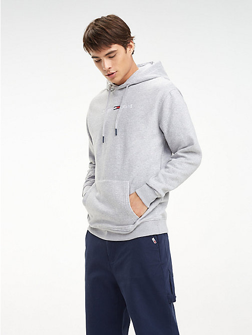 TOMMY JEANS Tommy Jeans Logo Hoody - LT GREY HTR - TOMMY JEANS Sweatshirts & Hoodies - main image