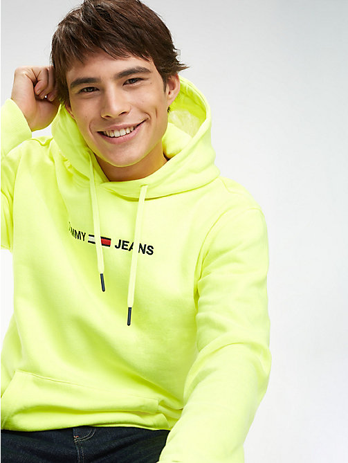 TOMMY JEANS Tommy Jeans Logo Hoody - SAFETY YELLOW - TOMMY JEANS Sweatshirts & Hoodies - main image