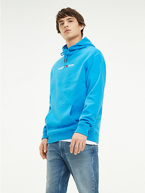 TOMMY JEANS Sweat à capuche et logo Tommy Jeans - BRILLIANT BLUE - TOMMY JEANS Sweats - image principale