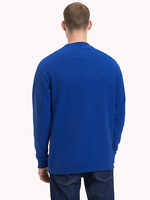 TOMMY JEANS Crew Neck Logo Jumper - SURF THE WEB - TOMMY JEANS Sweatshirts & Knitwear - detail image 1