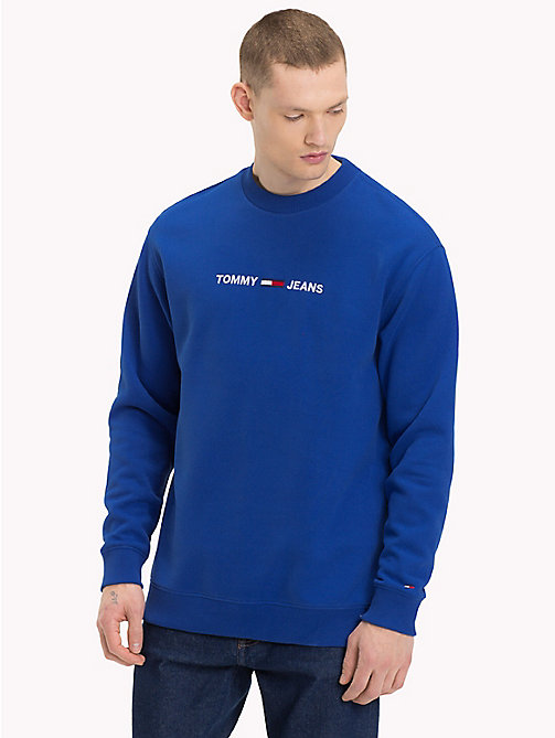TOMMY JEANS Crew Neck Logo Jumper - SURF THE WEB - TOMMY JEANS Sweatshirts & Knitwear - main image