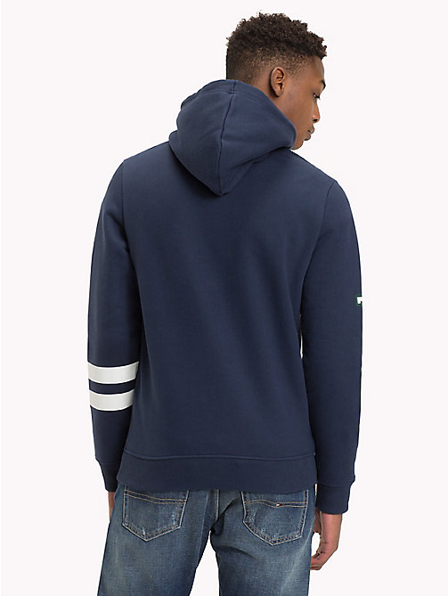 TOMMY JEANS Collegiate Graphic Fleece Hoody - BLACK IRIS - TOMMY JEANS Sweatshirts & Hoodies - detail image 1