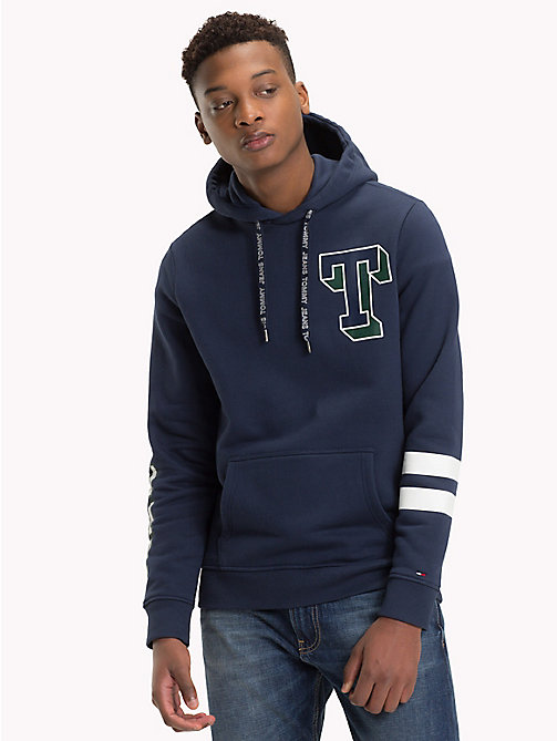 TOMMY JEANS Collegiate Graphic Fleece Hoody - BLACK IRIS - TOMMY JEANS Sweatshirts & Hoodies - main image