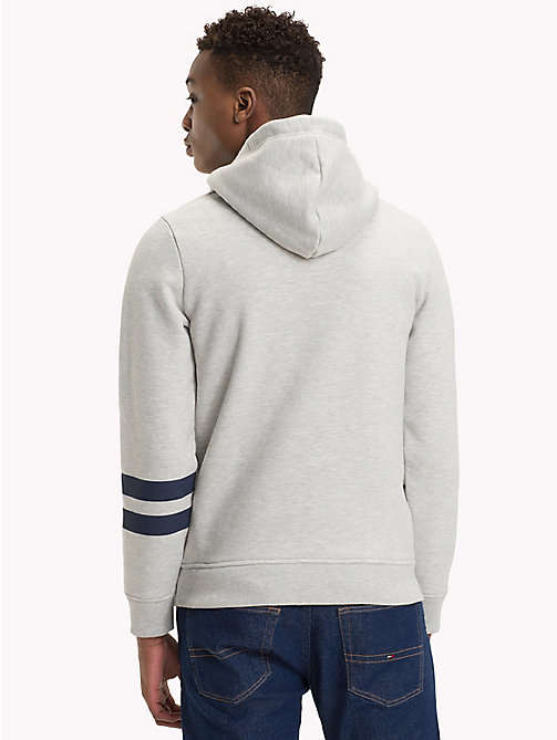 TOMMY JEANS Collegiate Graphic Fleece Hoody - LT GREY HTR - TOMMY JEANS Sweatshirts & Hoodies - detail image 1