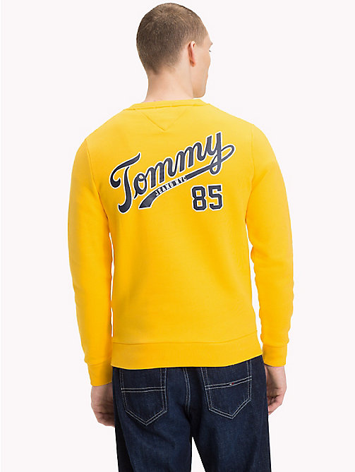 TOMMY JEANS Back Logo Crew Neck Sweatshirt - SPECTRA YELLOW - TOMMY JEANS Sweatshirts & Hoodies - detail image 1