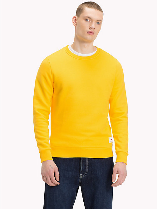 TOMMY JEANS Back Logo Crew Neck Sweatshirt - SPECTRA YELLOW - TOMMY JEANS Sweatshirts & Hoodies - main image