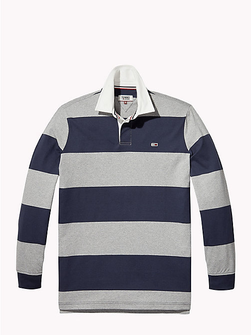 TOMMY JEANS Tommy Classics' Rugby Shirt - LT GREY HTR / BLACK IRIS - TOMMY JEANS Rugby shirts - detail image 1