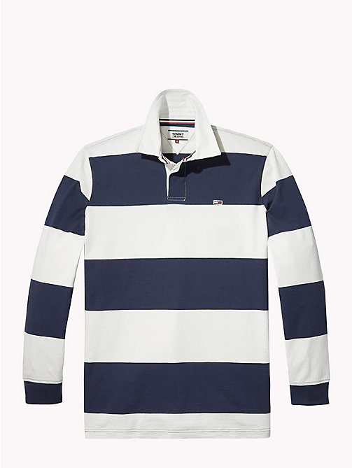 TOMMY JEANS Tommy Classics' Rugby Shirt - CLASSIC WHITE / BLACK IRIS - TOMMY JEANS Rugby shirts - detail image 1