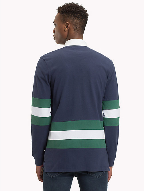TOMMY JEANS Statement Stripe Rugby Shirt - BLACK IRIS / MULTI - TOMMY JEANS Rugby shirts - detail image 1