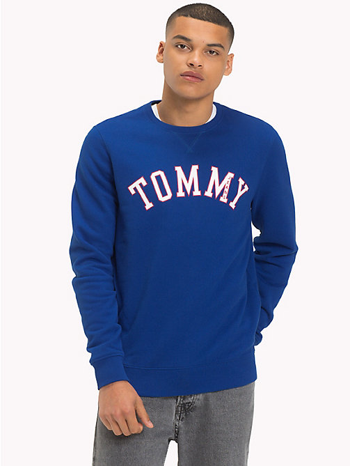 TOMMY JEANS Crew Neck Logo Sweatshirt - SURF THE WEB - TOMMY JEANS Sweatshirts & Hoodies - main image