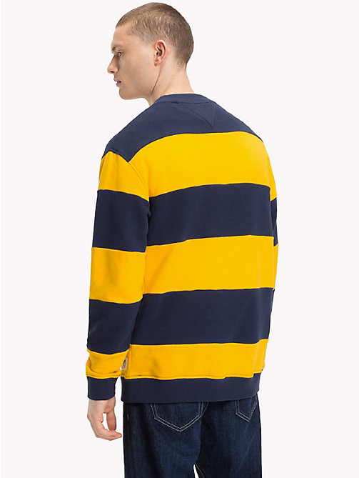 TOMMY JEANS Stripe Crew Neck Sweatshirt - BLACK IRIS / SPECTRA YELLOW - TOMMY JEANS Sweatshirts & Hoodies - detail image 1