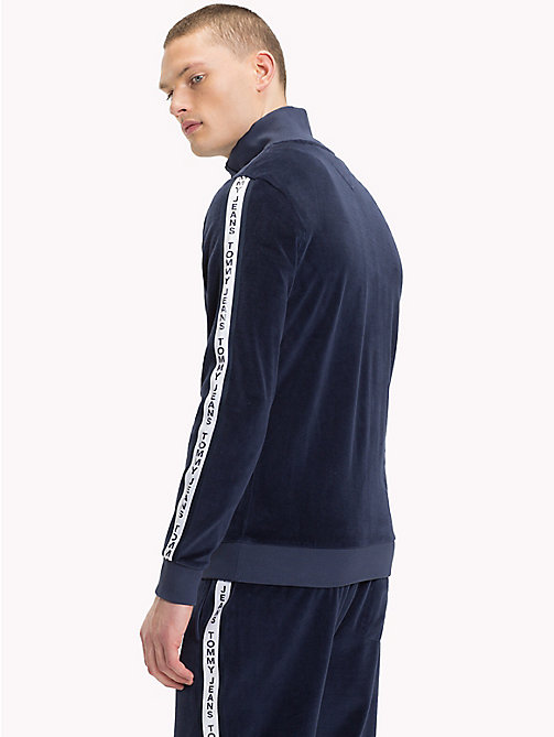 TOMMY JEANS Velour Tracksuit Top - BLACK IRIS - TOMMY JEANS Tracksuits - detail image 1