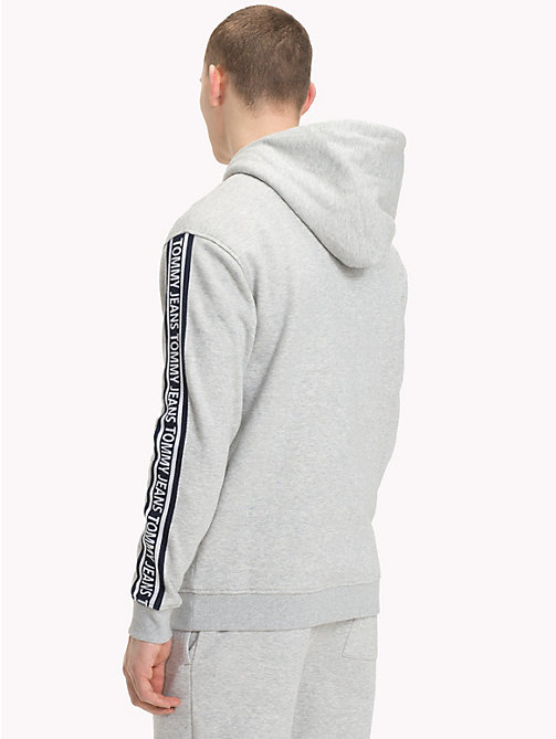 TOMMY JEANS Logo Sleeve Zip-Thru Hoody - LT GREY HTR - TOMMY JEANS Tracksuits - detail image 1