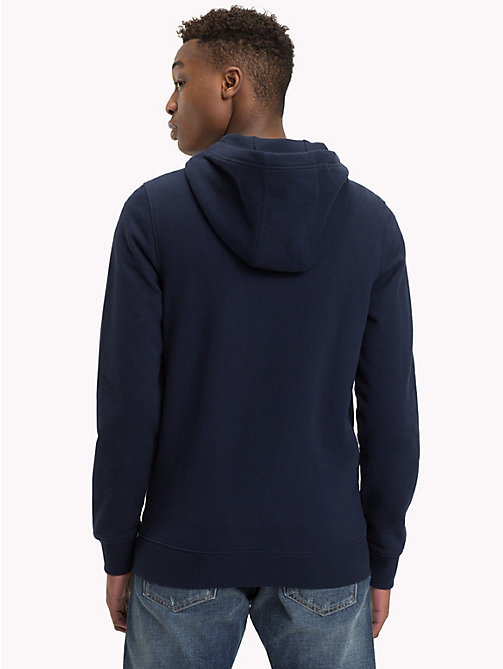 TOMMY JEANS Graphic Zip-Thru Hoody - BLACK IRIS - TOMMY JEANS Sweatshirts & Knitwear - detail image 1