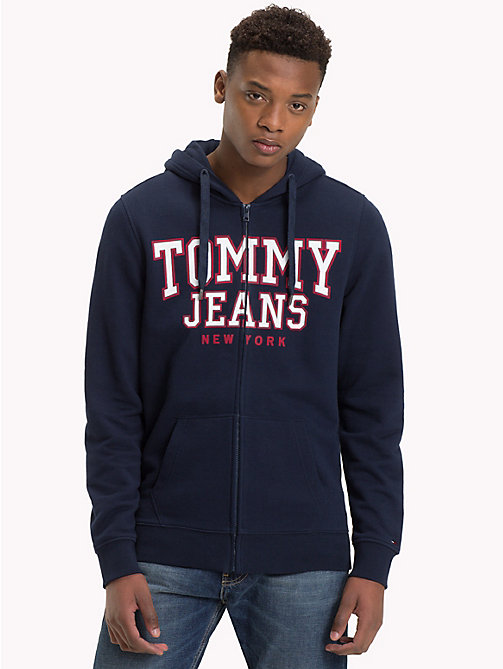 TOMMY JEANS Graphic Zip-Thru Hoody - BLACK IRIS - TOMMY JEANS Sweatshirts & Knitwear - main image