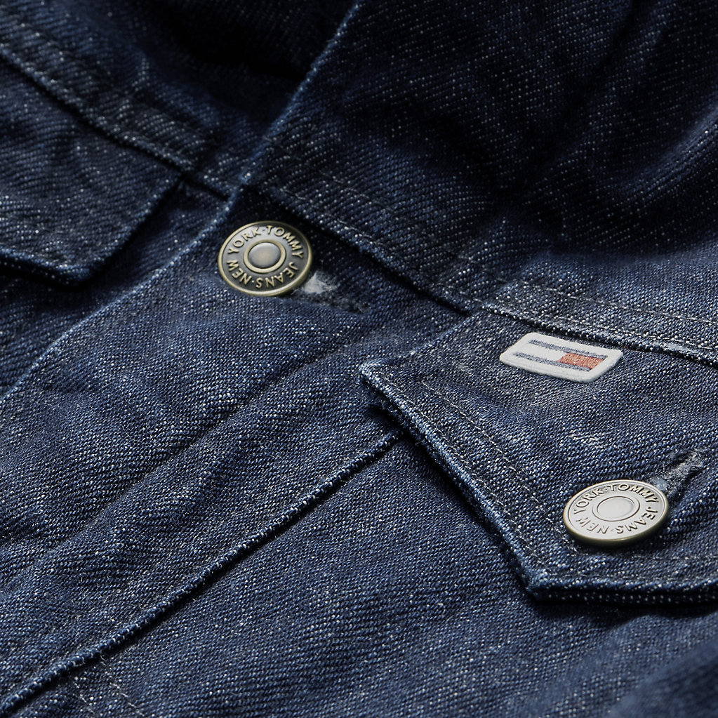 Fleece-Lined Denim Jacket. TOMMY JEANS