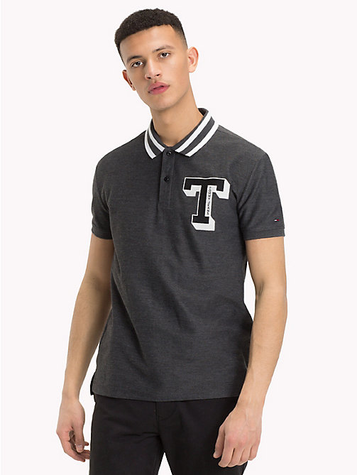 TOMMY JEANS Polo con colletto a righe - TOMMY BLACK - TOMMY JEANS T-Shirts & Polos - immagine principale