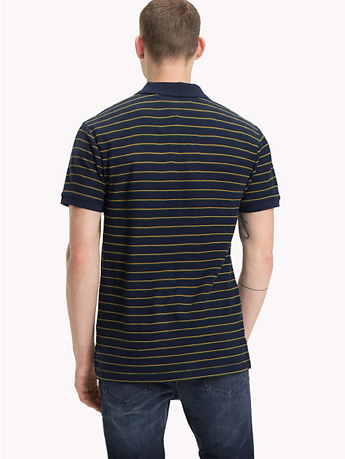 TOMMY JEANS Multi-Colour Stripe Polo Top - BLACK IRIS MULTI - TOMMY JEANS T-Shirts & Polos - detail image 1