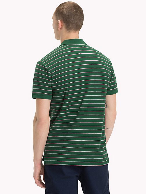 TOMMY JEANS Poloshirt met multicolorstreep - HUNTER GREEN / MULTI - TOMMY JEANS T-Shirts &  Polo's - detail image 1