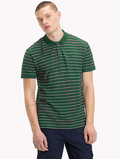 TOMMY JEANS Poloshirt met multicolorstreep - HUNTER GREEN / MULTI - TOMMY JEANS T-Shirts &  Polo's - main image