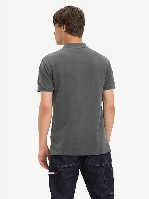 TOMMY JEANS Garment Dye Polo Shirt - TOMMY BLACK - TOMMY JEANS T-Shirts & Polos - detail image 1
