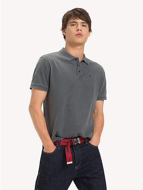 TOMMY JEANS Garment Dye Polo Shirt - TOMMY BLACK - TOMMY JEANS T-Shirts & Polos - main image