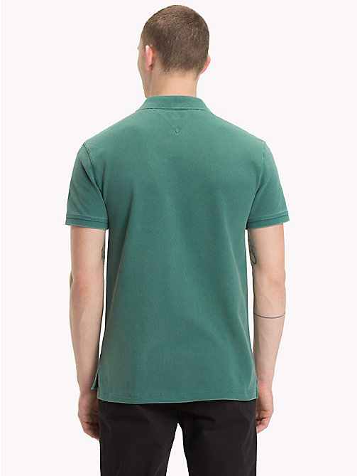 TOMMY JEANS Geverfd poloshirt - HUNTER GREEN - TOMMY JEANS T-Shirts &  Polo's - detail image 1