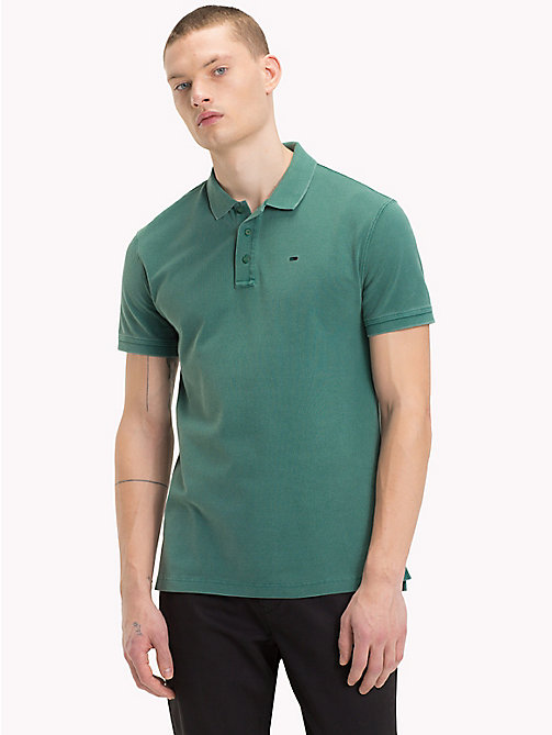 TOMMY JEANS Geverfd poloshirt - HUNTER GREEN - TOMMY JEANS T-Shirts &  Polo's - main image