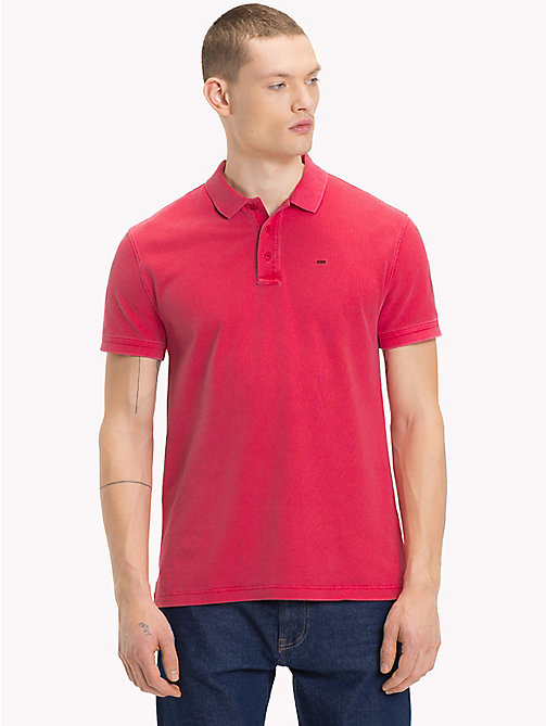 TOMMY JEANS Garment Dye Polo Top - SAMBA - TOMMY JEANS T-Shirts & Polos - main image