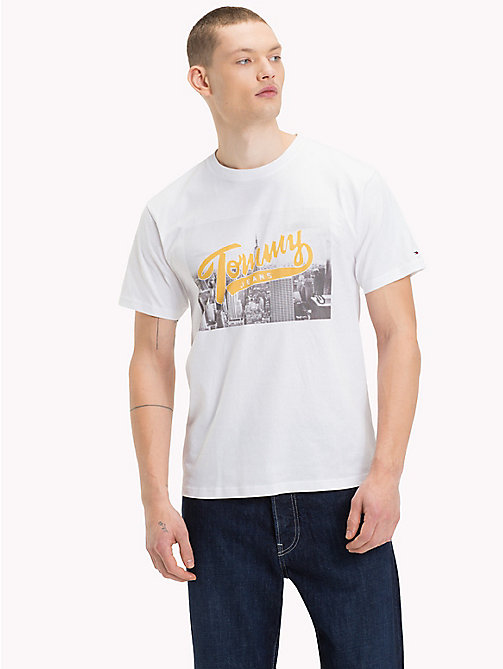 TOMMY JEANS Photo Print T-Shirt - CLASSIC WHITE - TOMMY JEANS T-Shirts & Polos - main image