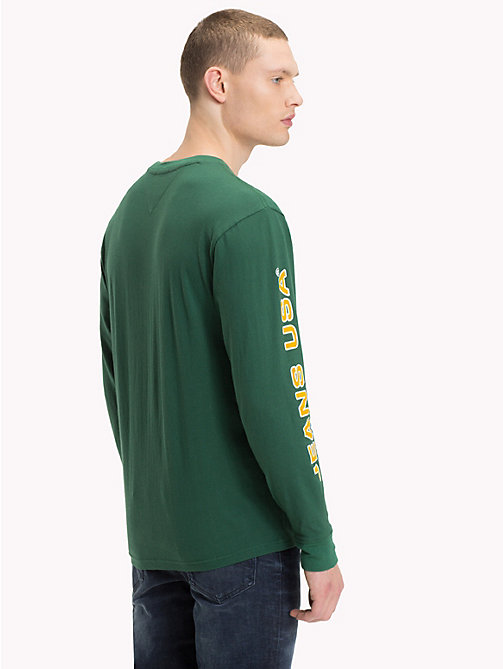 TOMMY JEANS Bold Tommy Jeans Logo Top - HUNTER GREEN - TOMMY JEANS T-Shirts & Polos - detail image 1
