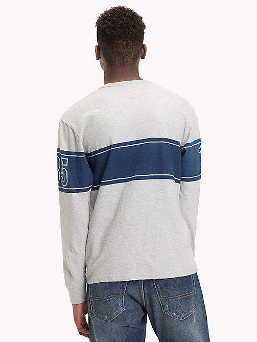 TOMMY JEANS Baseball-Style Long Sleeve Top - LT GREY HTR - TOMMY JEANS T-Shirts & Polos - detail image 1