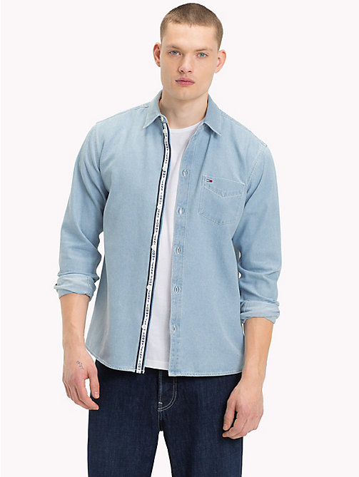 TOMMY JEANS Denim Shirt - LIGHT INDIGO - TOMMY JEANS Shirts - main image
