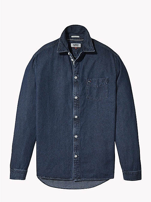 TOMMY JEANS Denim Shirt - DARK INDIGO - TOMMY JEANS Shirts - detail image 1